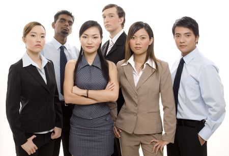 A young, dynamic and diverse group of six business people Stock Photo - 250360