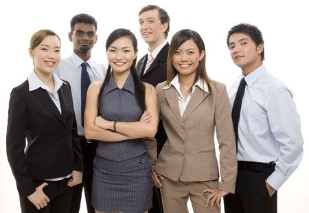 A group of diverse individuals make up a happy business team Stock Photo - 250361