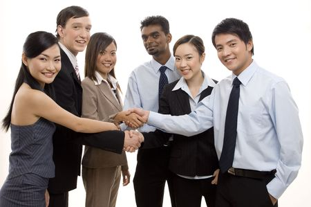 An ethnically diverse business team celebrate their success Stock Photo - 250368