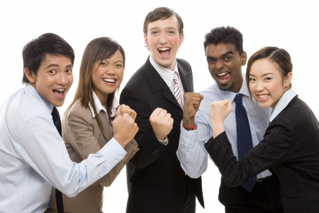 A group of business people celebrate their team success Stock Photo - 250340