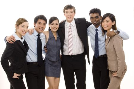 A happy and confident business team Stock Photo - 250339