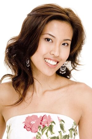 A beautiful young asian woman with a great smile Stock Photo - 294615