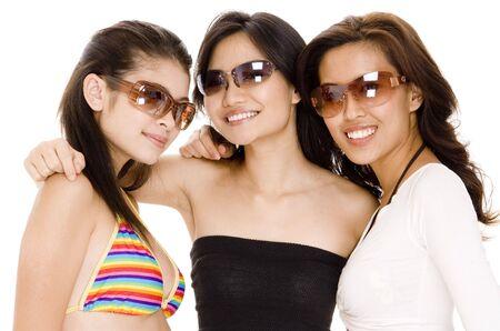 babes: Three attracive asian women in sunglasses