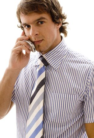 A young executive on a mobile phone photo