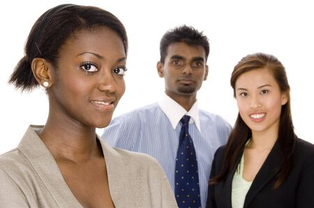 A diverse young business team