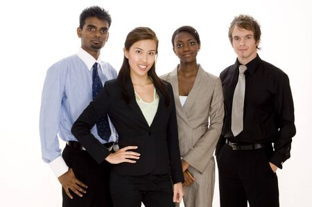 Four diverse individuals make this dynamic business team