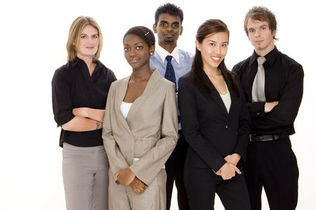 A diverse and young business team Stock Photo
