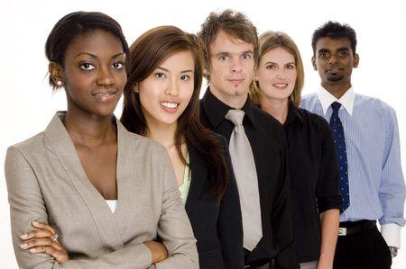 A diverse business team photo