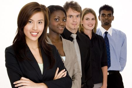 A diverse group of individuals make this business team Stock Photo