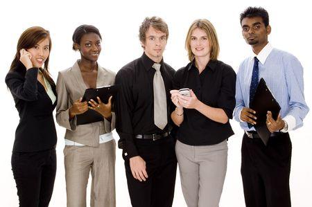 A diverse business team hard at work