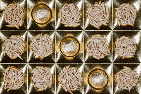 candy and oats in a festive box of chocolates under Stock Photo - 10930214