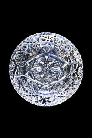 fop: blank crystal ashtray isolated on a black background