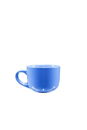 colored teacup, isolated on white background