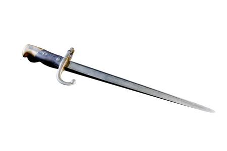 baionetta: Baionetta russo nel 1812, isolato su sfondo bianco
