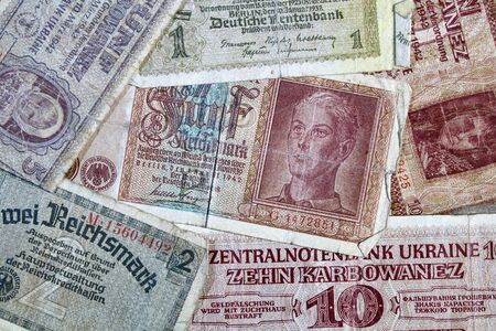 background of the Reichsmark, the Second World War