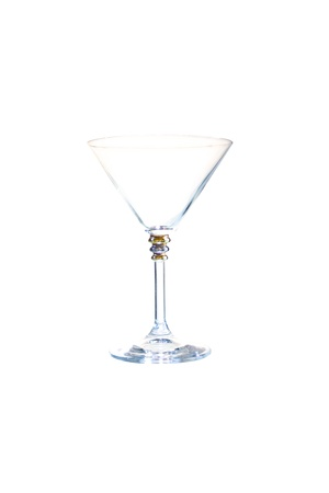 hits: a glass of martini, isolated on white background