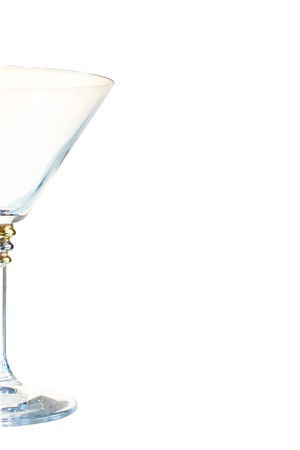 a glass of martini, isolated on white background