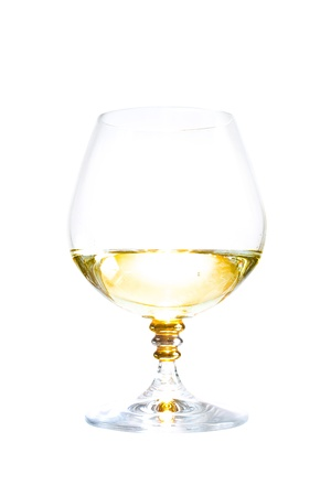luxury cognac glass, isolated on white background