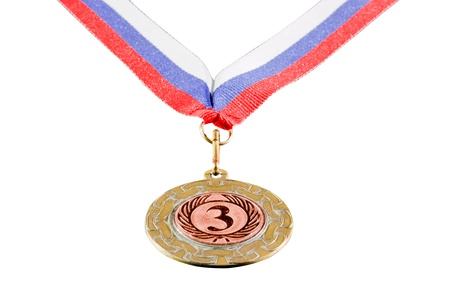 medal for 3rd place, isolated on white background Stock Photo