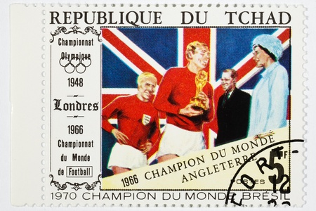 olympic games: postage stamp dedicated to football, olympic games 1966
