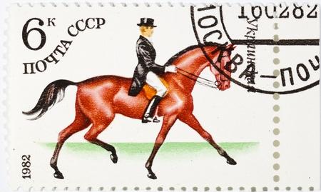 스포츠 카테고리에 전념 우표입니다. 우크라이나 스톡 사진