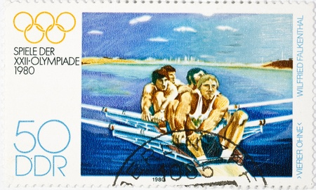 postage stamp dedicated to the sports category. Moscow Editorial
