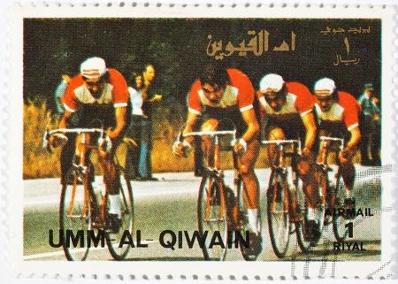스포츠 카테고리에 전념 우표. 움 알 - QIWAIN