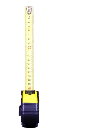 Measuring tape isolated on the white background