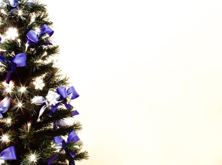 decorated Christmas tree on a white background