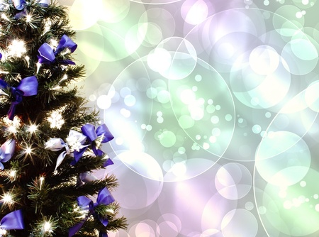 decorated Christmas tree on a white background Stock Photo - 12286051