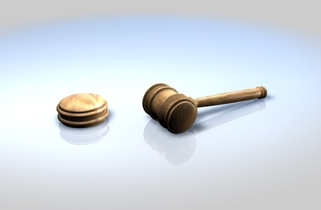 Auctioneer or judges gavel photo
