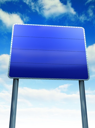 Blank sign post board Stock Photo - 12416790