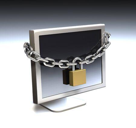 locked: Computer internet security