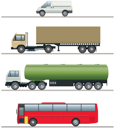 vehicles: Commercial vehicles elevations Illustration