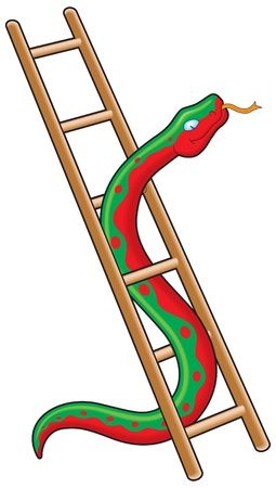 escaleras: Serpiente y escalera Vectores