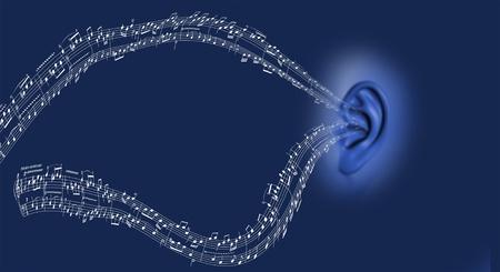 내 귀에 음악 스톡 콘텐츠