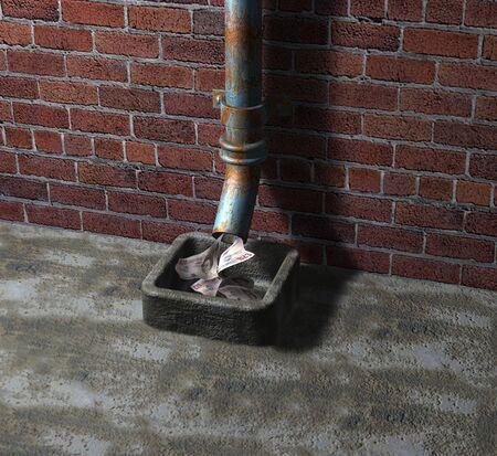 Money down the drain Standard-Bild