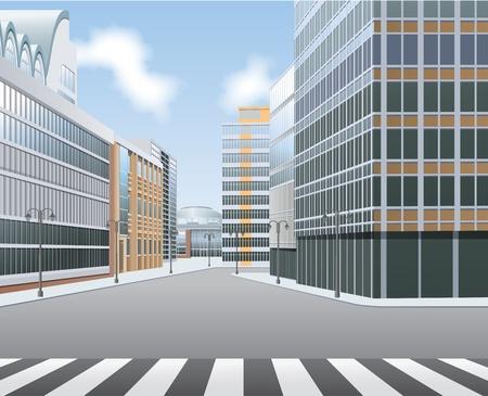 Ville de High Street, le centre-ville