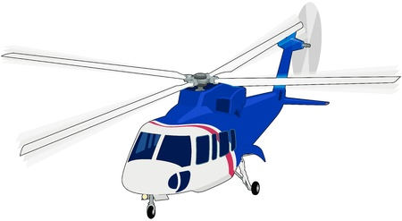 emergency response: Helicopter vector illustration