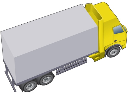 Lorry or truck Vector