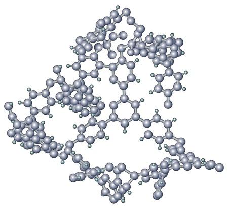 Molecules, molecular structure Vector