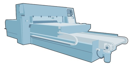 metal cutting: Industrial factory machine 9 Illustration