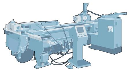 maschinenteile: Industrielle Maschine 1 Illustration