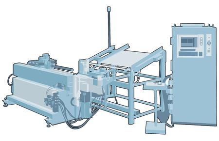maschinenteile: Industrielle Maschine 2 Illustration