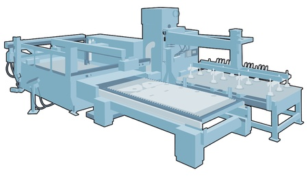 maschinenteile: Industrielle Maschine 3 Illustration