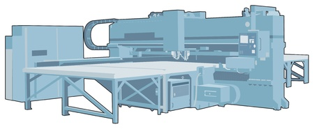 bohrmaschine: Industrielle Maschine 4 Illustration