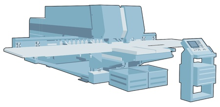 drilling machine: Industrial factory machine 6 Illustration