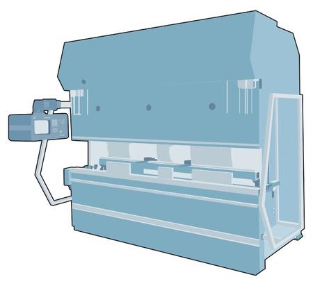 frezowanie: Maszyna przemysłowa fabryka 7 Ilustracja