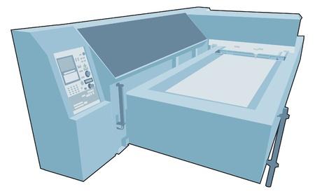 Industrial factory machine 8 Stock Vector - 13282790