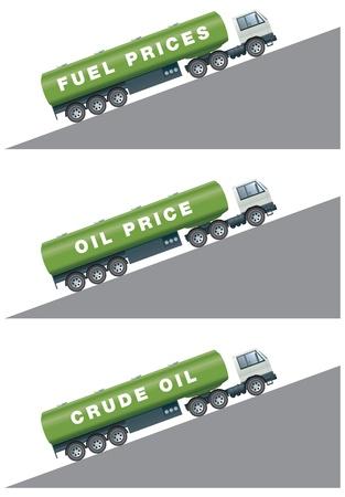 неочищенный: Рост или падение нефти и цены на бензин Иллюстрация